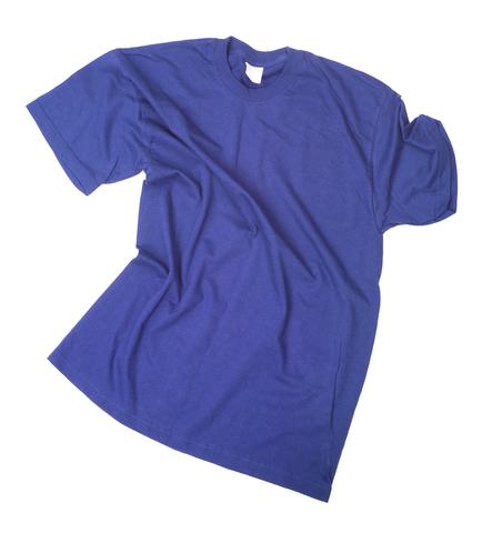 blank blue t-shirt