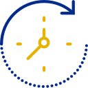 fast turnaround clock icon